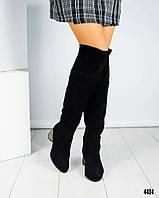 Ботфорты женские на ригинальном каблуке, фото 1
