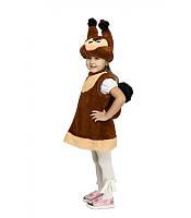 Карнавальный костюм БЕЛОЧКА на девочку 2-5 лет, 90-116 см, детский новогодний костюм Белки маскарадный
