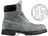 Мужские ботинки Timberland Classic Boots Gray Winter (с мехом)