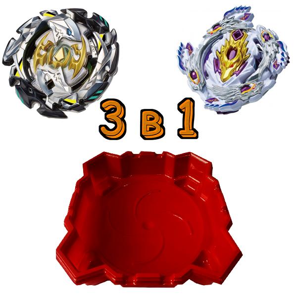 Набор 3 в 1: Арена + Бейблейд Кровавый Луинор S3 и Beyblade Император Форнеус SB