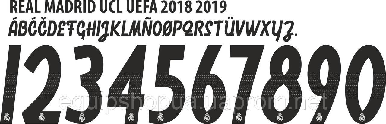 Нанесение номера и фамилии Real Madrid 2018-2019