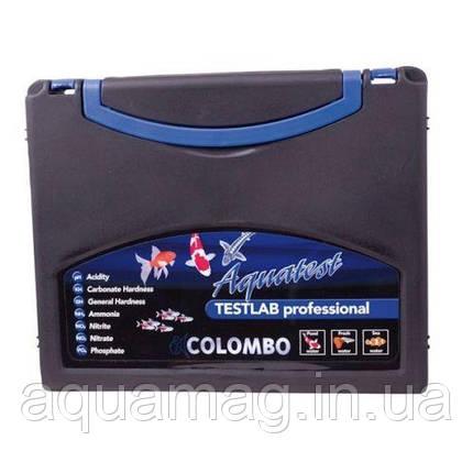 Набор для анализа воды Colombo Aquatest TESTLAB Professional для пруда, водоема, УЗВ, озера, фото 2