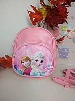 Розовый мини-рюкзак для девочки Холодное сердце 19*16*6 см, фото 1