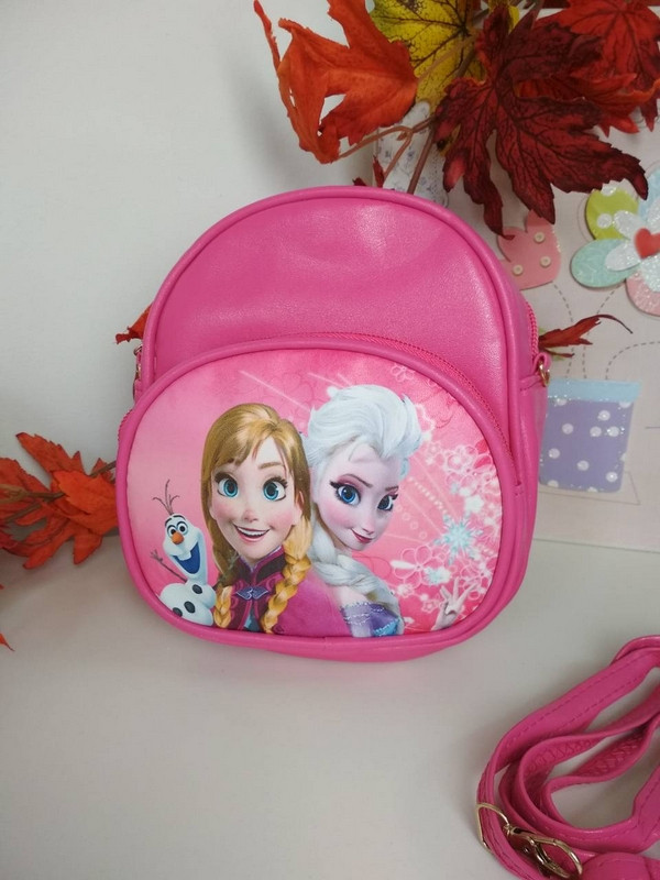 Малиновый рюкзачок для девочки Холодное сердце 19*16*6 см