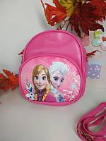 Малиновый рюкзачок для девочки Холодное сердце 19*16*6 см, фото 1