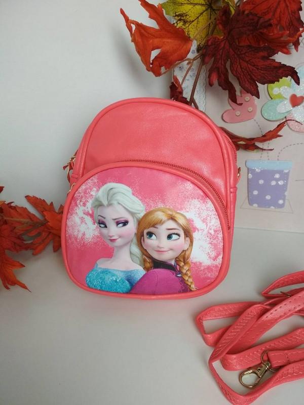 Коралловый рюкзачок для девочки Холодное сердце 19*16*6 см