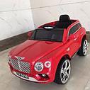 Детский электромобиль Джип Bentley Кожаное сиденье, EVA резина, Амортизаторы, красный, дитячий електромобіль, фото 2