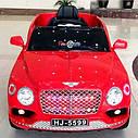 Детский электромобиль Джип Bentley Кожаное сиденье, EVA резина, Амортизаторы, красный, дитячий електромобіль, фото 3