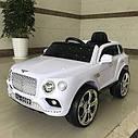 Детский электромобиль Джип Bentley Кожаное сиденье, EVA резина, Амортизаторы, красный, дитячий електромобіль, фото 7