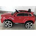Детский электромобиль Джип Bentley Кожаное сиденье, EVA резина, Амортизаторы, красный, дитячий електромобіль, фото 4