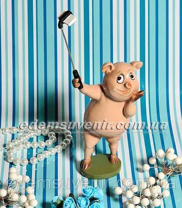 Статуэтка декоративная Селфи Свинка, фото 2