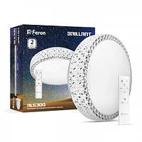 LED Светильник SMART FERON AL5300 36W круг 2880Lm  2700K-6400K 400*115mm (пульт ДУ)