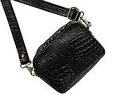 Сумка из кожи крокодила Ekzotic Leather Черная (cb02)