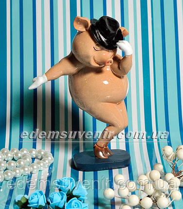 Статуэтка декоративная Свинка танцор, фото 2