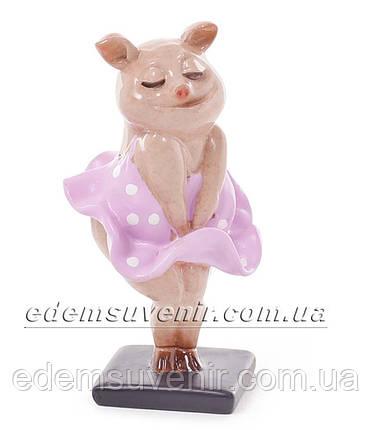 Статуэтка декоративная Свинка Монро малая, фото 2