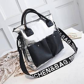 Блестящая женская сумка