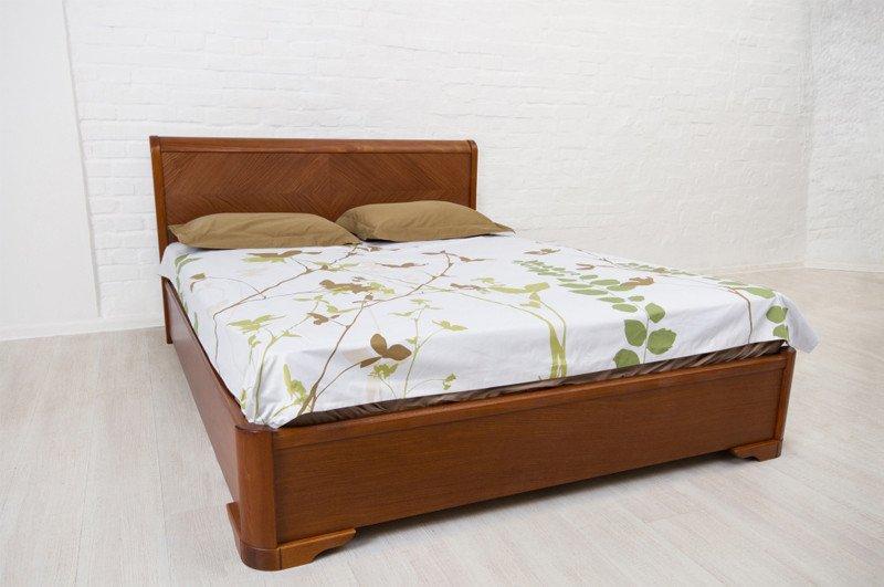 Кровать АССОЛЬ 140х200 орех