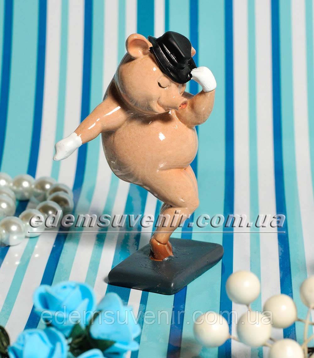 Статуэтка декоративная Свинка Танцор малый