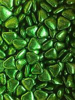 Шоколадные сердечки зеленые 15 мм