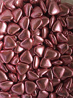 Шоколадные сердечки розовые 15 мм