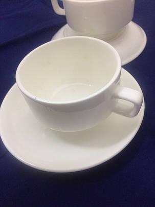 Чашка с блюдцем Белый дом, 180 мл, фото 2