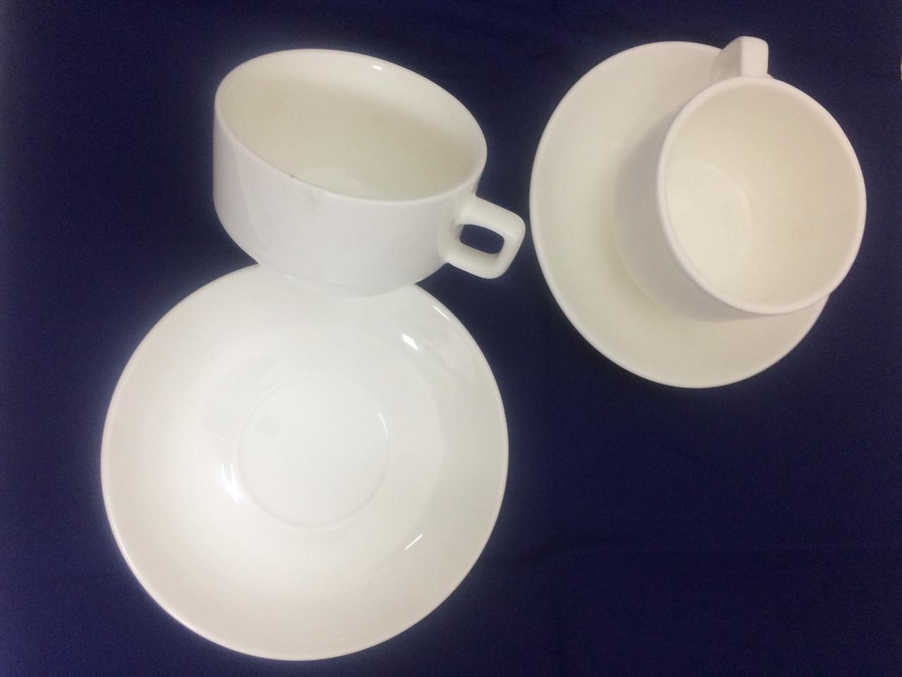 Чашка с блюдцем Белый дом, 180 мл