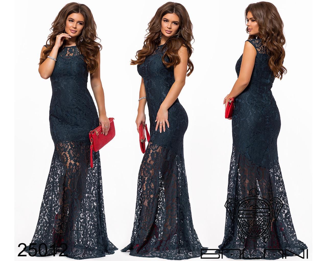 Вечірня гипюрова сукня в пол
