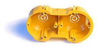 Установочные коробки под гипсокартон модульные двойние (мультибоксы) для розеток и выключателей.