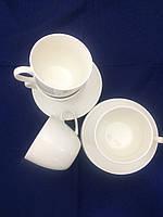 Набор чашек с блюдцами Белый чай на 6 персон ( чашки и блюдца )