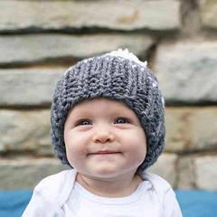 Зимние новинки! Стильные детские вязаные шапки оптом уже в каталоге.