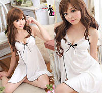 Эротическая ночная рубашка белый цвет