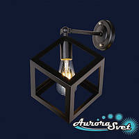 Бра настенная AuroraSvet loft 7900 чёрная. LED светильник бра. Светодиодный светильник бра.