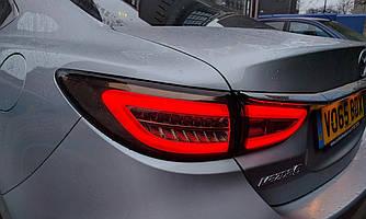 Диодные фонари LED тюнинг оптика Mazda 6 GJ (12-16) тонированные