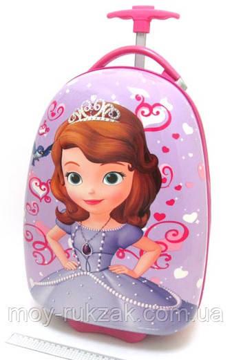 Детский чемодан дорожный на колесах «Принцесса София - 6» 520401