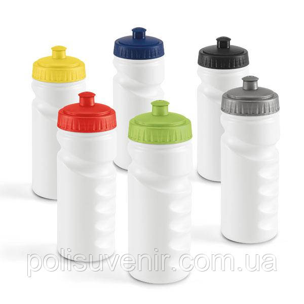 Пляшка з кольоровою кришкою для спорту