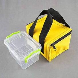 Комплект термосумка желтая + контейнер  для еды 0,8 л
