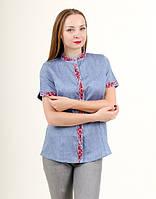 50620094310 Вышитая блуза изготовлена из домотканого полотна