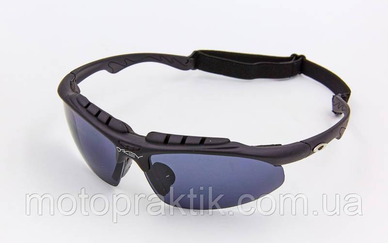 Мото/Вело спортивні Окуляри сонцезахисні OAKLEY 612 (репліка), Чорний, (пластик, акрил, гумка шнурок)