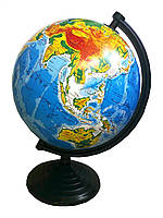 Глобус физический, диаметр 260 мм.