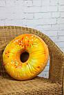 """3D Подушка декоративная Пончик """"Медовый"""". Декоративная 3D подушка-пончик. Подушка игрушка антистресс Пончик, фото 4"""