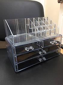 Акриловый органайзер для косметики ( пластиковая подставка для косметики )
