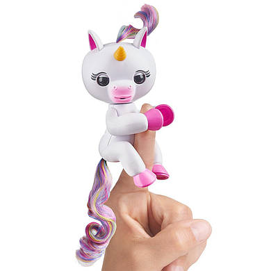 Интерактивный единорог белый WowWee Fingerlings Baby Unicorn