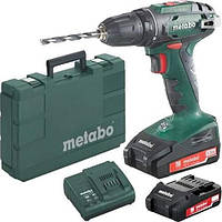 Аккумуляторный шуруповерт Metabo BS 18 2*2.0 Ач (602207560)