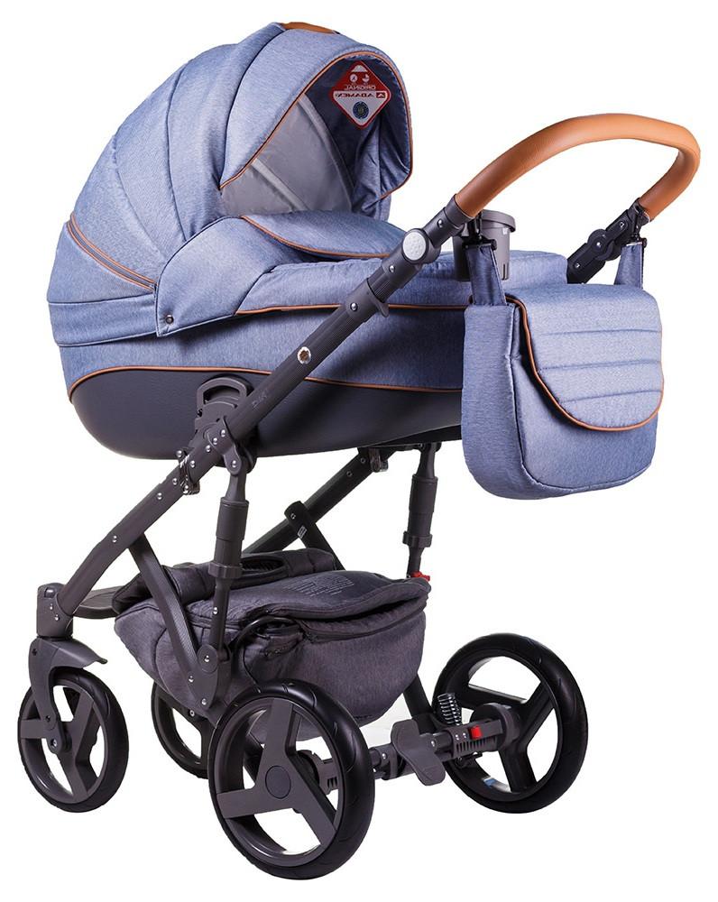 Детская коляска универсальная 2 в 1 Adamex Prince X-2 (Адамекс Принц, Польша)