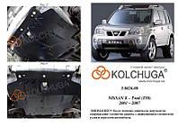 Защита на двигатель, КПП, радиатор для Nissan X-Trail T30 (2001-2007) Mодификация: 2.0D Кольчуга 1.9373.00 Покрытие: Полимерная краска