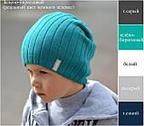 Шапка для мальчика осенне зимняя, Цвет Синий, фото 7
