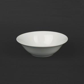 Фарфоровая суповая тарелка, глубокая 500 мл. Белого цвета