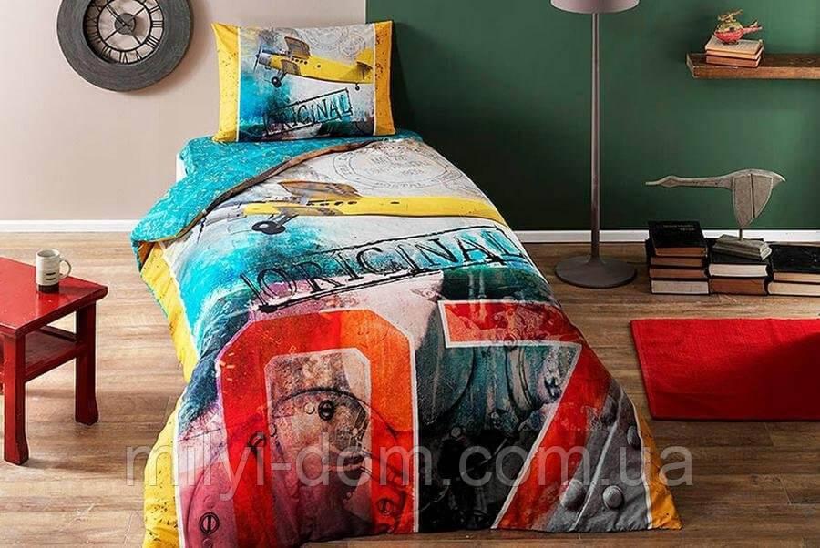 Набор подросткового постельного белья TAC Plane  (простынь на резинке)