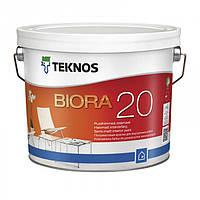 Teknos Biora 20 9 л База 1 Водоразбавляемая полуматовая акрилатная краска для внутренних стен и потолка