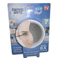 Зеркало с подсветкой на присоске Свивел Брайт- Swivel Brite , фото 1